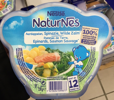 NaturNes Pommes de Terre, Épinards, Saumon Sauvage - Product