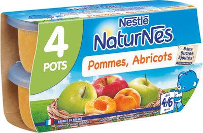 NESTLE NATURNES Compotes Bébé Pommes Abricots -4x130g -Dès 4/6 mois - Prodotto - fr