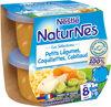 NESTLE NATURNES Les Sélections Petits Pots Bébé Petits Légumes, Coquillettes, Cabillaud -2x200g -Dès 8 mois - Produto