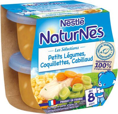 NESTLE NATURNES Les Sélections Petits Pots Bébé Petits Légumes, Coquillettes, Cabillaud -2x200g -Dès 8 mois - Prodotto - fr