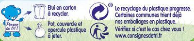 NESTLE NATURNES Les Sélections Petits Pots Bébé Petits Légumes, Coquillettes, Cabillaud -2x200g -Dès 8 mois - Istruzioni per il riciclaggio e/o informazioni sull'imballaggio - fr