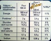Extrême vanille praliné - Informations nutritionnelles - fr