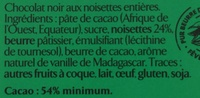 chocolat noisette - Ingredients - fr