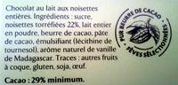 Noisettes entières - Ingrediënten