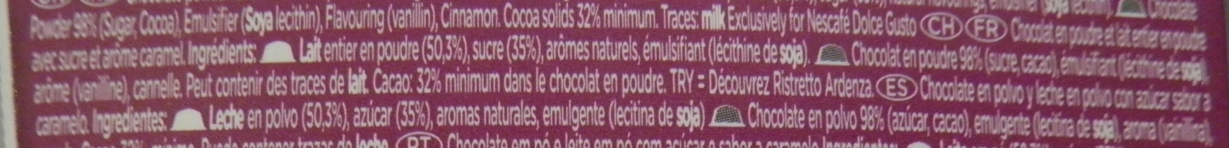Nescafé Dolce Gusto Chococino Caramel - Ingredients - fr