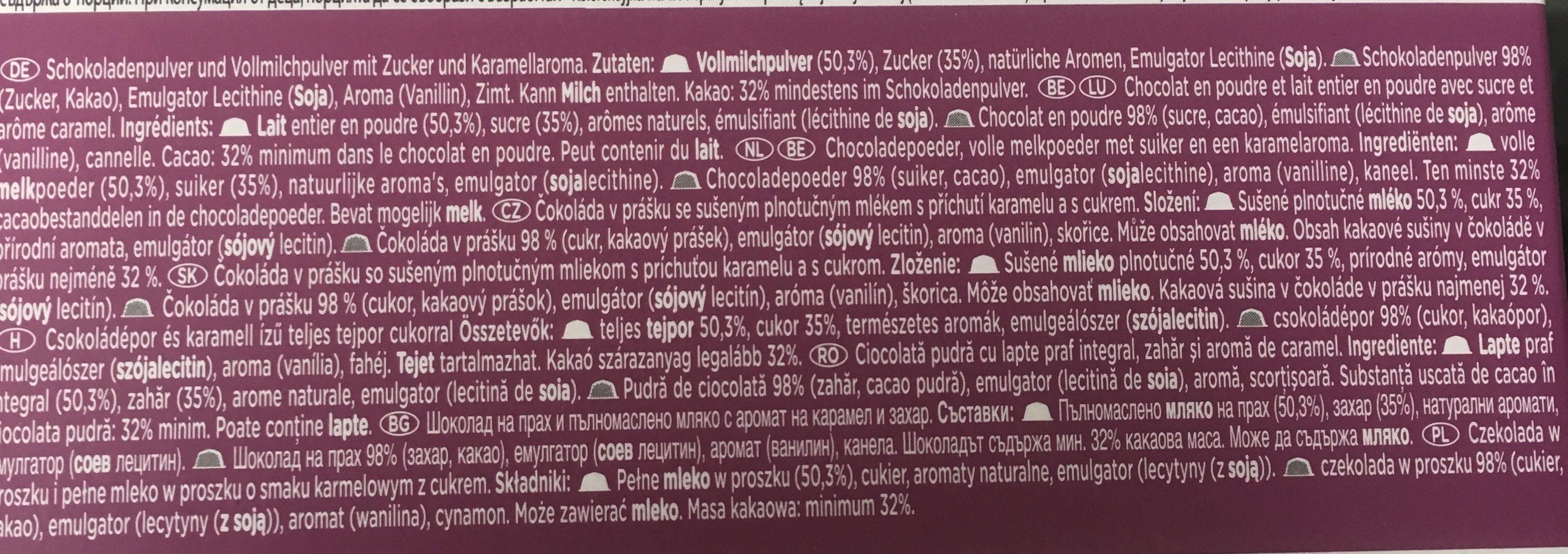 Dolce Gusto Chococino Caramel - Ingrediënten - fr
