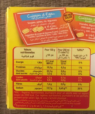 Bouillon Cube Maggi Mouton Halal - Voedingswaarden - fr