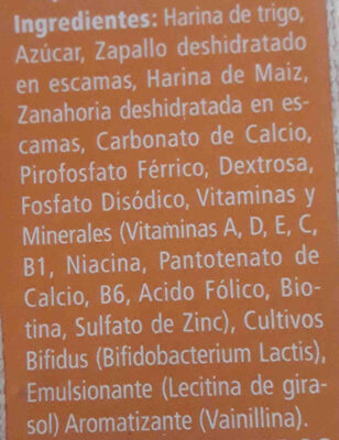 nestum - Ingredientes - es
