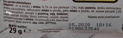 Sos do makaronu serowo-pieczarkowy - Składniki