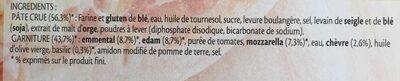 BUITONI FRAICH'UP pizza surgelée 4 Fromages - Ingrédients - fr