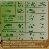 Pizza Fraich'up Royale - Nutrition facts
