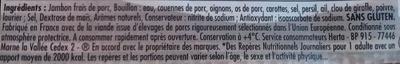 Le Bon Paris, À l'Étouffée (6 Tranches) - Ingredienti - fr