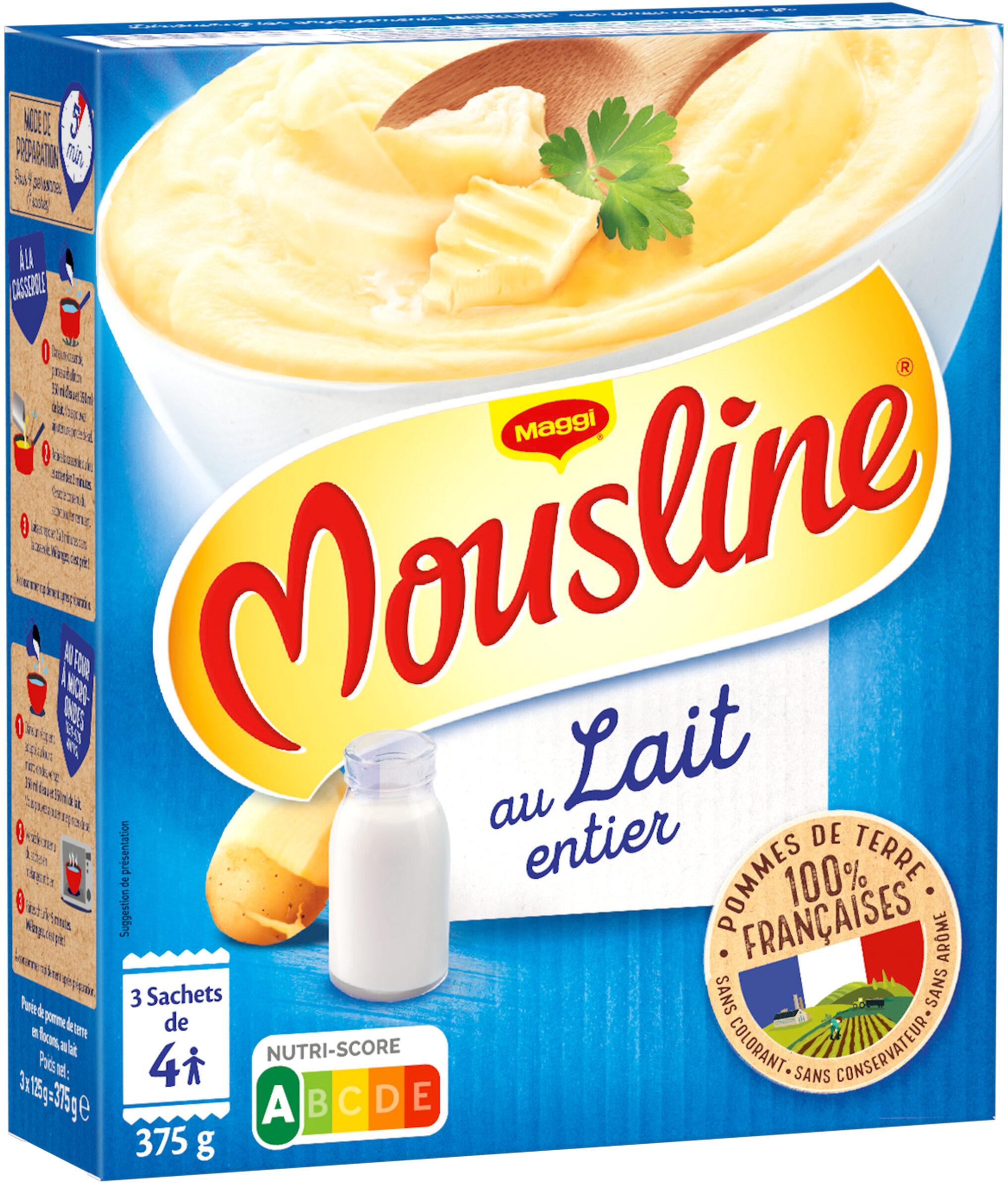 MOUSLINE Purée au lait entier Format Famille (3x125g) - Product - fr