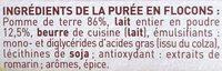 MOUSLINE Purée au lait entier Format Famille (3x125g) - Ingredients - fr