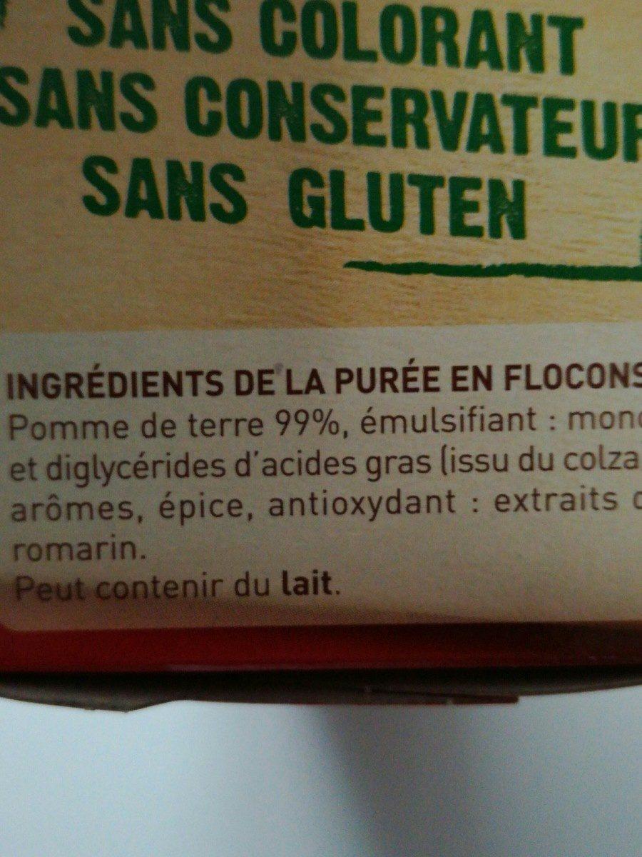 Mousline (4 sachets de 4 assiettes) - Ingredients