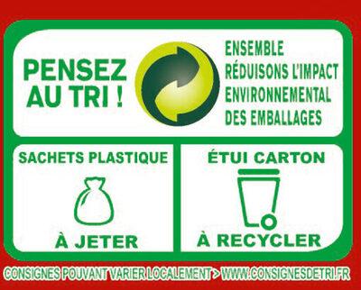 MOUSLINE Purée Nature, 4 sachets pour 4 personnes (4x130g) - Recyclinginstructies en / of verpakkingsinformatie - fr