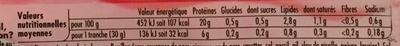 Tendre Noix, Supérieur (- 25 % de Sel) 6 Tranches - Nutrition facts