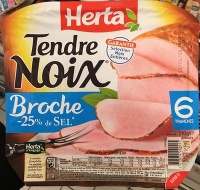 Tendre Noix Broche -25% de Sel - Produit - fr