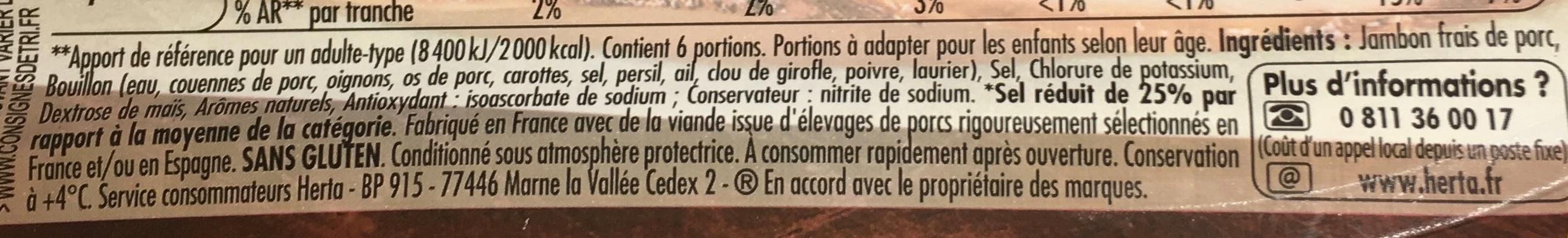 Tendre Noix Broche -25% de Sel - Ingrédients - fr