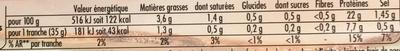 Tendre Noix Broche -25% de Sel - Informations nutritionnelles - fr