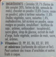 Chocapic Choco Noisette - Ingrediënten - fr