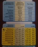 Chocapic Choco Noisette - Voedingswaarden - fr
