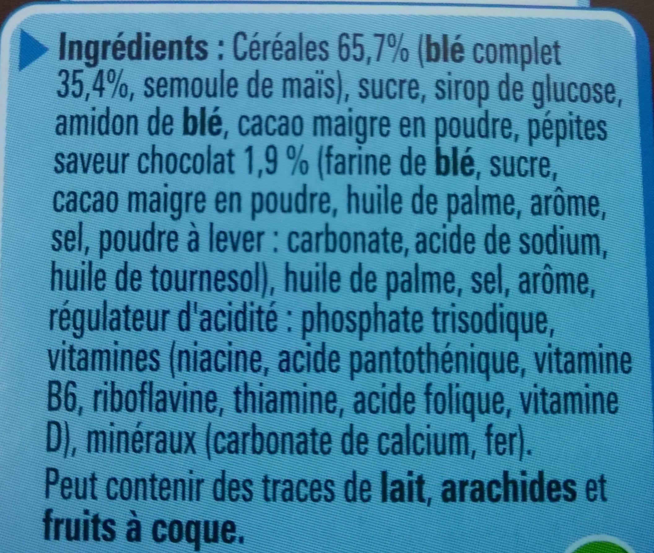 Cookie Crisp goût tout choco - Ingrédients