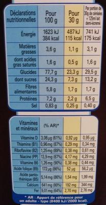 Cookie Crisp goût tout choco - Informations nutritionnelles