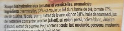 Bouillon Tomates Vermicelles - Ingrédients - fr