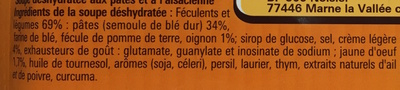 Saveur à l'Ancienne Riewele Supp à l'Alsacienne - Ingredients