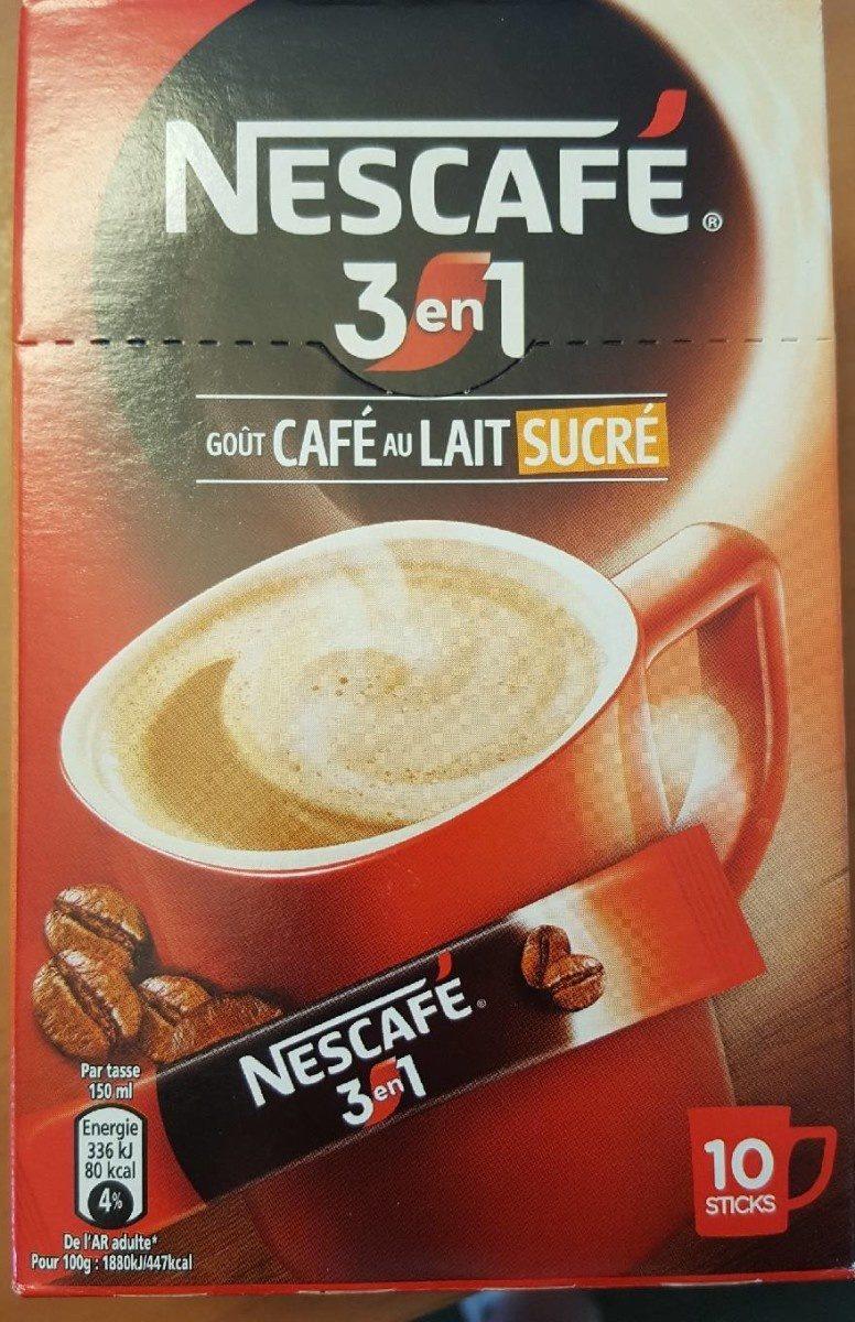 Nescafé 3 en 1 goût Café au Lait sucré - Product