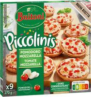 BUITONI PICCOLINIS mini-pizzas surgelées Tomate Mozzarella 9x30g ( - Product - fr