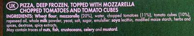 BUITONI PICCOLINIS mini-pizzas surgelées Tomate Mozzarella 9x30g ( - Ingredients - en