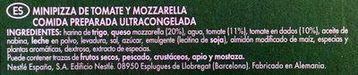 Piccolinis Pomodoro Mozzarella - Ingredientes