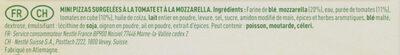BUITONI PICCOLINIS mini-pizzas surgelées Tomate Mozzarella 9x30g ( - Ingrédients - fr