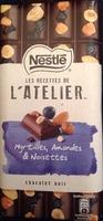 Chocolat noir myrtilles, amandes et noisettes - Producto