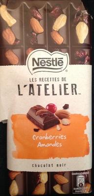Chocolat noir cranberries amandes - Producto