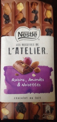 Les recettes de l'atelier Chocolat au lait Raisins, Amandes & Noisettes - Produit - fr