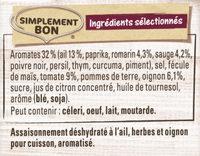 Papillotes Pomme de terre façon Potatoes - Ingrediënten - fr
