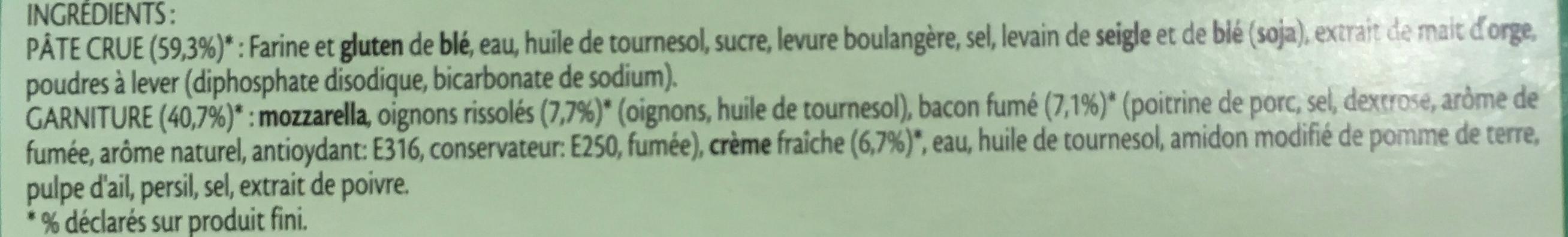 Fraîch'Up Bacon & Oignons - Ingrédients