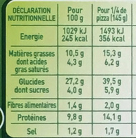 Fraîch'Up Bacon & Oignons - Informations nutritionnelles
