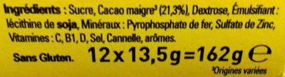 NESQUIK Poudre cacaotée 12 sticks de - Ingredienti - fr