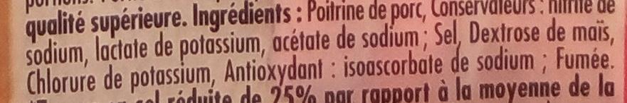 Lardons fumés (-25 % de sel) - Ingredienti - fr