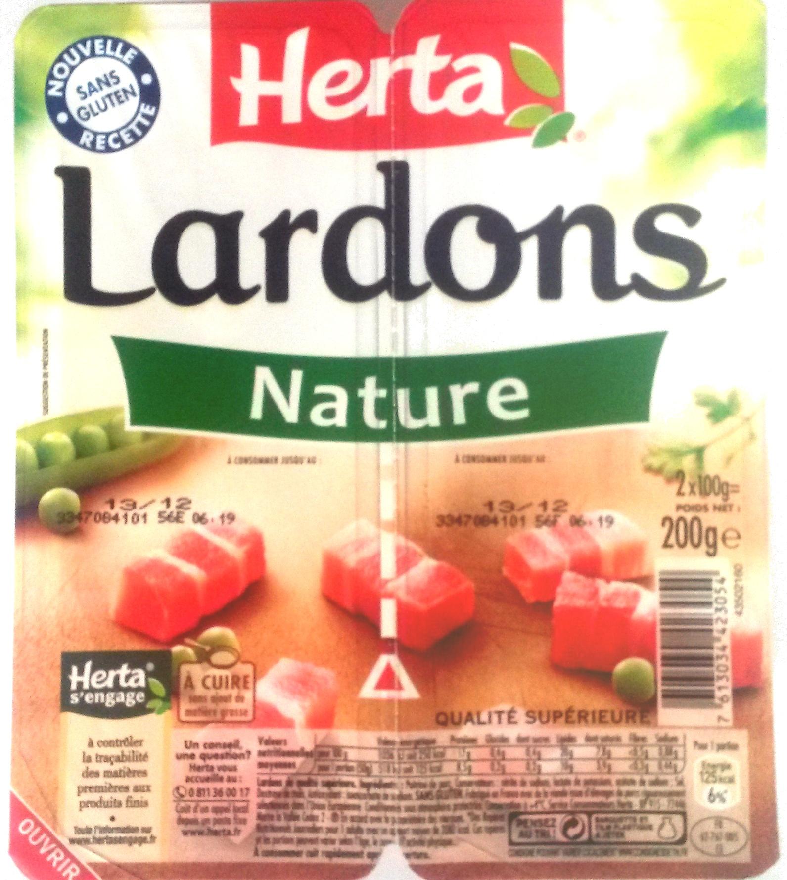 Lardons, Nature - Product - fr