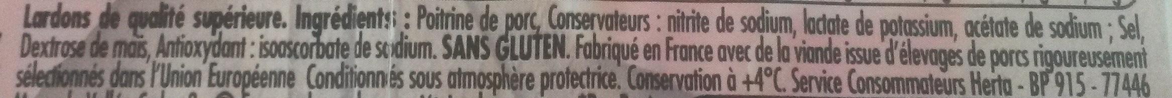 Lardons, Nature - Ingrediënten - fr