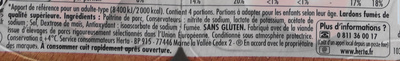 Lardons, Fumés - Ingrédients - fr