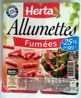 Allumettes, Fumées (- 25 % de Sel) - Produit