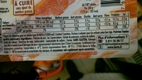 Fines Tranches, Poitrine Fumée (7 Tranches Fines) - Informations nutritionnelles - fr
