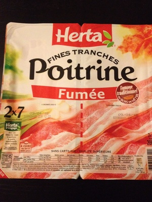 Fines Tranches, Poitrine Fumée (2 x 7 Tranches Fines) - Product