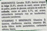 Estrellitas saveur Galleta Maria - Ingrédients - fr